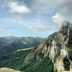 """""""Picos de Europa - The Picos de Europa (literally: """"Peaks of Europe"""", often abbreviated to the Picos) is a range of mountains 20 km inland from the northern coast of Spain, located in the Autonomous Communities of Asturias, Cantabria and Castile and León, forming part of the Cantabrian Mountains. The most widely accepted origin for the name is that they were the first sight of Europe for ships arriving from the Americas."""" de Staivel"""