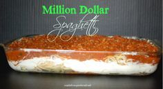 Million Dollar Spagetti - Live Dan 330 (suggested modifications:  veggies crumbles, whole wheat pasta, fat free sour cream, 1/3 fat cream cheese, low fat cottage cheese, no butter and no grated cheese on top.)