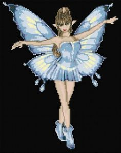 Free fairy cross stitch pattern