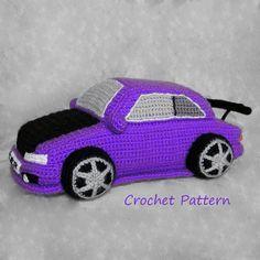 Crochet pattern for Violet Toyota Corolla. Toys for boys Crochet Car, Crochet For Boys, Cute Crochet, Crochet Dolls, Crochet Pouch, Boy Crochet Patterns, Amigurumi Patterns, Crochet Designs, Toyota Corolla
