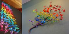 This is so colorful and so creative! Great for an office or living room :)