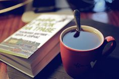 Today I started my morning with a cup of mint tea and a small book.
