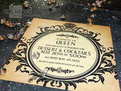 Evil Queen Gothic Halloween Fairytale Party Invitation