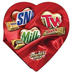 Mars Valentine's Candy Minis Mix Heart Gift Box, 7.7 Ounce, Pack of 2