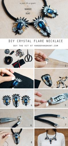 DIY Crystal Flare Necklace | Wander & Hunt DIY Supplies