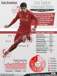 Luis Suarez's Liverpool Stats From the 2012-13 Premier League ...