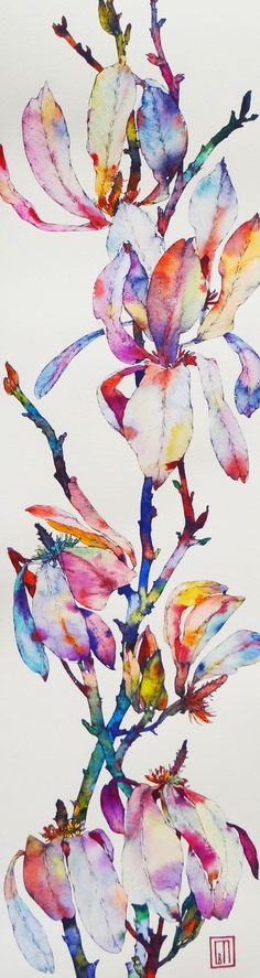 http://www.sofiaperinamiller.com/mag4.jpg I wonder if I could do something like this with the cricut - cut out the parts of a plant on sticky paper, watercolor over the cutout, remove more, watercolor more...