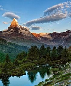 Matterhorn, Pennine Alps. A fairytale scenary on the border between Switzerland and Italy.