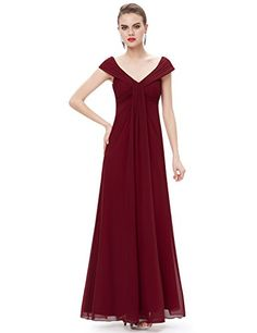 New Trending Formal Dresses: Ever Pretty V Neck Empire Waist Long Red Evening Dress 8 US. Ever Pretty V Neck Empire Waist Long Red Evening Dress 8 US  Special Offer: $59.99  311 Reviews Off shoulder necklines are back in a big way! This flattering retro silhouette beautifully shows off your decolletage, while the long length of this dress adds elegance. This dress is...