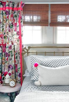 """Super smart tip for making curtains—buy cheap Ikea ones as """"liner"""" and just sew fabric on top."""