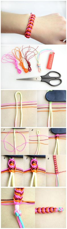 How to make hemp bracelet patterns
