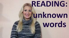 IELTS Reading: What to do when you don't know a word- english video