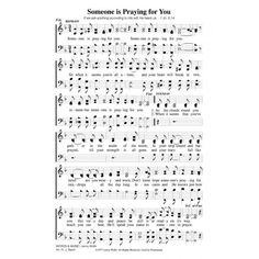 Someone is Praying for You-PDF Song Sheet