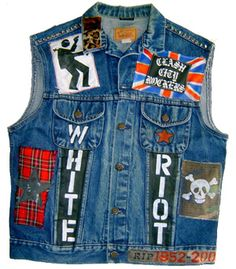 Punk Rock Clash Tribute Denim Vest (Front)