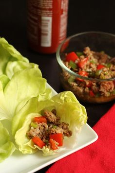 These Turkey and Pepper Lettuce Wraps come together easily on the stovetop, are freezer friendly, and taste delicious, making for a refreshing summer time meal.but small quantity Tasty Vegetarian Recipes, Easy Healthy Recipes, Lunch Recipes, Healthy Snacks, Healthy Eating, Paleo, Free Recipes, Lettuce Wraps, Whole 30 Recipes