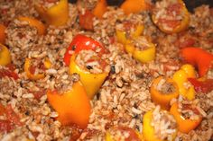 These mini stuffed sweet peppers can be used as an appetizer or main dish and are absolutely delicious. You can find them at http://artbymichelewilson.com/stuffedminisweetpeppers.htm