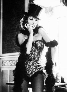 Anouk Aimée on the set of Lola (1961).  Photo by Raymond Cauchetier
