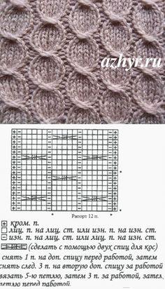 Вязание красивых кос спицами схема | АЖУР - схемы узоров
