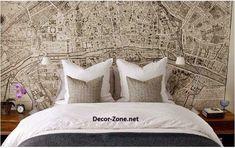 bedroom wallpaper for decorating bed headboards