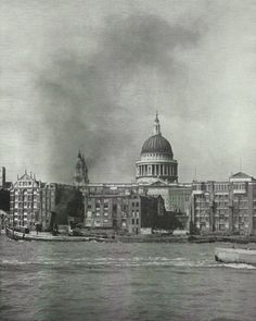 St Paul's Cathedral Central London 1930s vintage by ImpalaPrints