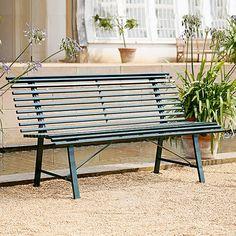 Gartenbank Metall Ohne Armlehne Grun