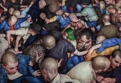 Writhing, Sweaty, and Ecstatic: The Realist Paintings of Dan Witz | The Creators Project