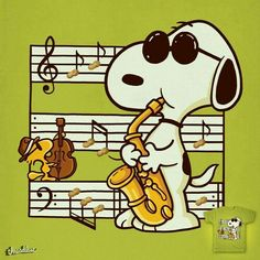Snoopy Music Is Happiness 🎶 Snoopy Images, Snoopy Pictures, Peanuts Images, Peanuts Cartoon, Peanuts Snoopy, Snoopy Quotes, 3d Fantasy, Favorite Cartoon Character, Charlie Brown And Snoopy