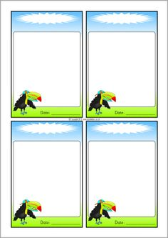 Toucan-themed editable communication slips (SB9714) - SparkleBox