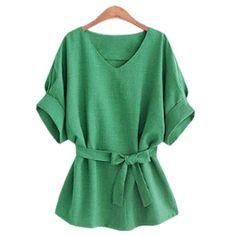Green Womens Shirts Butterfly Belt 2017 Women Blouses Blusas Vetement Femme Spring Ladies Tops Plus Size Women Clothing 5XL