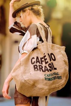Love this recycle Coffebag do Brasil ❤