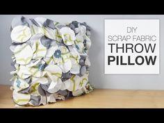 Crafty Throw Pillow Made From Fabric Scraps Quilting Projects, Sewing Projects, Diy Projects, Fabric Scraps, Scrap Fabric, Home Crafts, Diy Crafts, Felt Pillow, Pillow Tutorial
