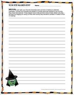 halloween writing activities for 5th graders