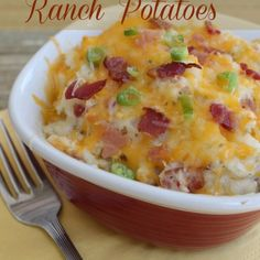 Cheesy Ranch Potatoes Recipe. There's lots more recipes here! I tried this recipe today and its delicious!!!!