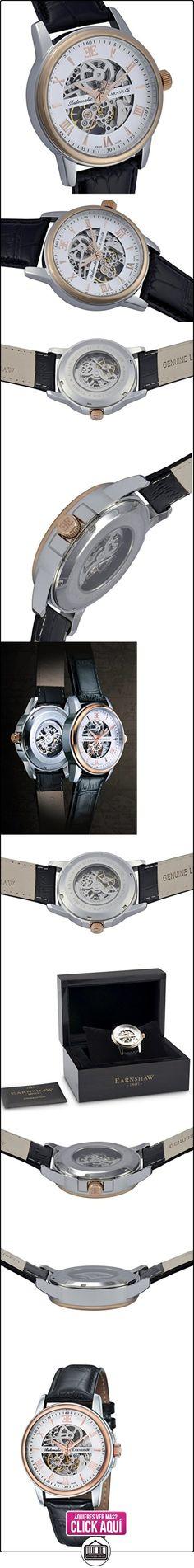 Thomas Earnshaw ES-0014-01 - Reloj analógico para hombre con esfera analógica de color blanco y correa de cuero negra  ✿ Relojes para hombre - (Lujo) ✿ ▬► Ver oferta: https://comprar.io/goto/B00LZWW10O