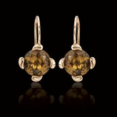 Cognac citrine pendant earrings in 18k rose gold from our Tamara Comolli Collection.
