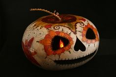 Dia Los Muertos amazing gourd work by Carrie Rubalcava