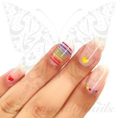 Valentine's Day Nail Designs, Nail Designs Spring, Simple Nail Designs, Valentine Nail Art, Holiday Nail Art, Valentines Day, Cute Spring Nails, Cute Nails, Funky Nails