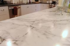 Laminate counter option - Calcutta Marble - this is my fave so far...