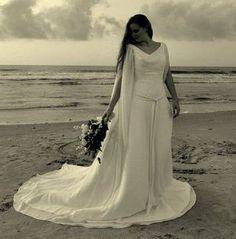 Celtic Bridal Gown Wedding Dress in Chiffon by WeddingDressFantasy, $995.00