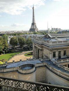 View from a private apartment, Avenue Pierre 1er de Serbie, Paris VIII