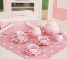 Pink Tea Set  7/21/15 - Corey and the gang came over for Tori's belated birthday party.  Had hot dogs, cupcakes, and watched Guardians of the Galaxy in 3-D.
