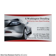 Used car dealer business card business cards and business auto cars business card reheart Choice Image