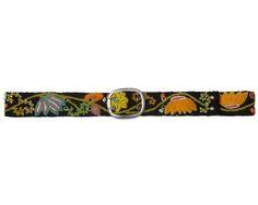 EMBROIDERED FLOWER BELT | Jenny Kraus, Peruvian, accessories, handmade, clothing, folk textiles, Uncommon Goods, Embroidered Flower Belt | UncommonGoods