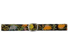 EMBROIDERED FLOWER BELT   Jenny Kraus, Peruvian, accessories, handmade, clothing, folk textiles, Uncommon Goods, Embroidered Flower Belt   UncommonGoods
