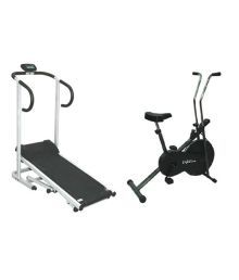 Lifeline Manual Treadmill +  Exercise Cycle Combo Offer