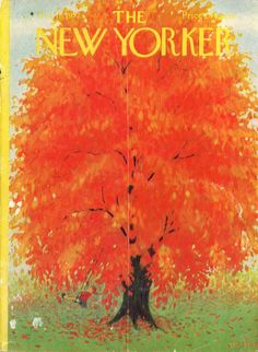 New Yorker cover Eicke autumn leaves swing 10/18 1952