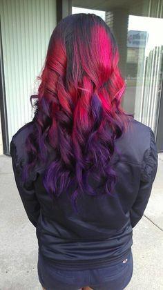 Pink purple ombré