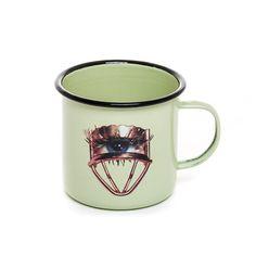 Toiletpaper Enamel Mug - Eye Modern Dinnerware, Dishwasher, Modern Furniture, Enamel, Porcelain, Plates, Tableware, Metal, How To Wear