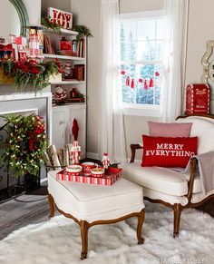 58 Affordable Modern Decor Deas To Update Your Room Home Depot . Christmas Living Rooms, Christmas Room, Christmas Time Is Here, Merry Little Christmas, Country Christmas, Christmas Holidays, Chic Living Room, Christmas Inspiration, Modern Decor