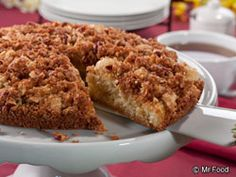 Pick up your favorite cozy fall drink, and pair it with a slice of this Apple Coffee Cake. #Recipe